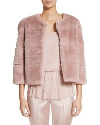 Collection genuine rex rabbit fur jacket medium 6860880