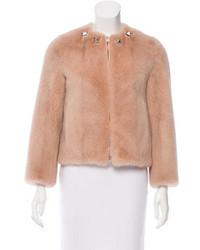 Givenchy Stud Embellished Mink Jacket W Tags