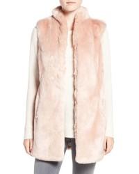 Eliza J Faux Mink Fur Vest
