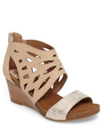 Sofft Mystic Perforated Wedge Sandal