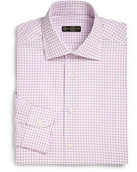 Corneliani Box Check Cotton Dress Shirt