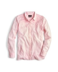J.Crew Crinkle Gingham Boy Shirt