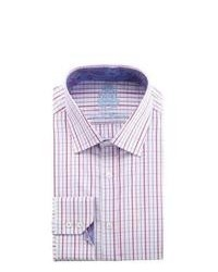 English Laundry Check Dress Shirt Pinkmagentablue