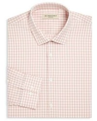 Burberry Gingham Checked Regular Fit Cotton Dress Shirt