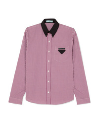 Prada Gingham Cotton Poplin Shirt