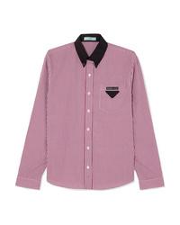 Prada Gingham Cotton Poplin Shirt