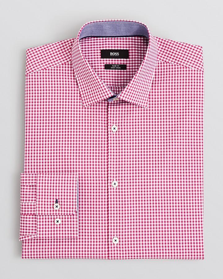 Hugo boss boss juri gingham dress shirt slim fit where for Hugo boss slim dress shirt