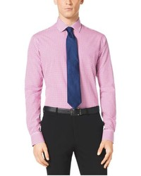 Michael Kors Michl Kors Tailored Fit Gingham Cotton Shirt