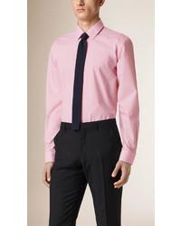 Modern fit gingham cotton poplin shirt medium 580691