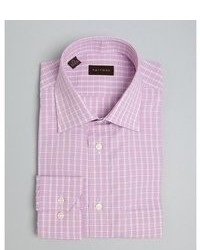 Harrison Pink Check Classic Fit Dress Shirt
