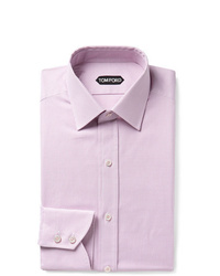 Tom Ford Pink Slim Fit Micro Gingham Cotton Shirt