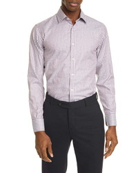 Canali Classic Fit Check Button Up Shirt