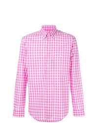 Gingham print shirt medium 7552544