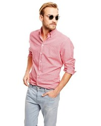 Mango Outlet Slim Fit Gingham Check Shirt
