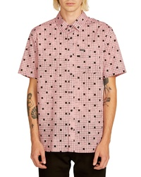 Pink Gingham Short Sleeve Shirt
