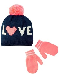 Carter's Hats And Glove Sets Navypink 0 9 Months