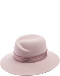 Maison Michel Virginie Rabbit Fur Felt Fedora Hat