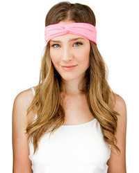 Hand made peach pink cross turban headband medium 75175