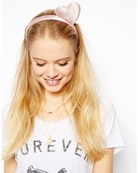 Asos Heart Headband Pink