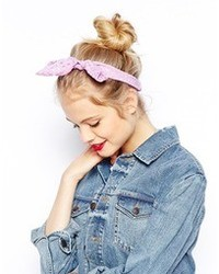 Asos Lazy Bow Headband Lilac