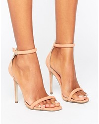 3701d32866c Missguided Barely There Ankle Strap Heeled Sandals