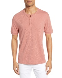 Vince Regular Fit Slub Knit Henley