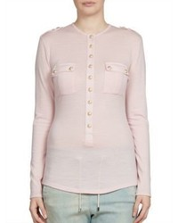 Balmain Wool Henley Top