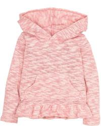 H&M Hooded Ruffle Sweater Light Pink Kids
