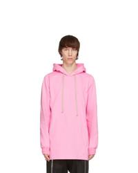 Rick Owens Pink Jersey Hoodie