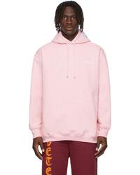 Vetements Pink Logo Hoodie