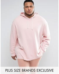 Puma Plus Waffle Oversized Hoodie In Pink To Asos
