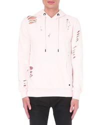 Criminal Damage Shoreditch Distressed Cotton Jersey Hoody