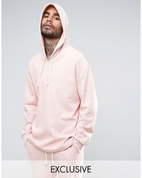 Puma Waffle Oversized Hoodie In Pink To Asos
