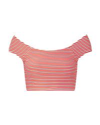 Mara Hoffman Naomi Striped Textured Bikini Top