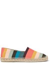 Paul Smith Sunny Striped Canvas Espadrilles