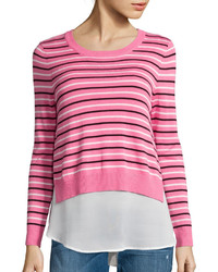 I (heart) Ronson I Heart Ronson I Heart Ronson Long Sleeve Striped Layered Sweater