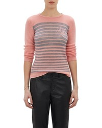 Lucien Pellat-Finet Leaf Intarsia Stripe Sweater Pink Size S
