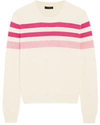 Striped merino wool sweater pink medium 829204