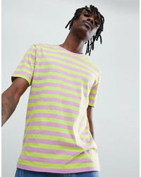 ASOS DESIGN Relaxed T Shirt With Bright Stripe