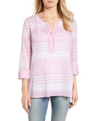 NYDJ Regatta Stripe Split Neck Tunic