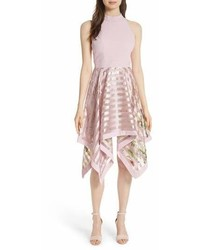 Ted Baker London Harmony Burnout Metallic Stripe Dress