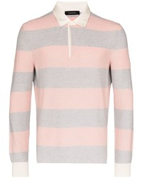 Ermenegildo Zegna Striped Knit Polo Shirt
