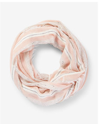 Express Metallic Stripe Loop Scarf