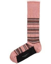 Marni Metallic Striped Cotton Socks