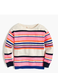 J.Crew Girls Colorful Striped Popover Sweater