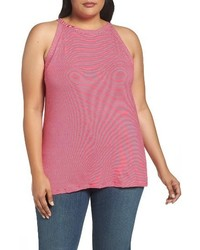 Plus size cutaway stripe tank medium 4107450