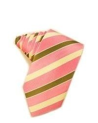 Pink Horizontal Striped Tie