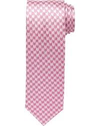 Pink Houndstooth Tie