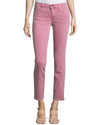 Joe's Jeans Straight Leg Twill Ankle Pants Raspberry