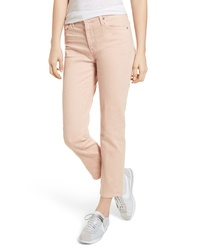 AG The Isabelle High Waist Crop Straight Leg Jeans